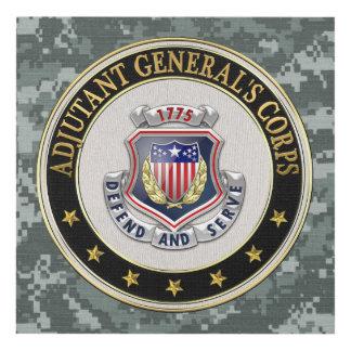 [220] AG Corps Regimental Insignia [3D] Panel Wall Art
