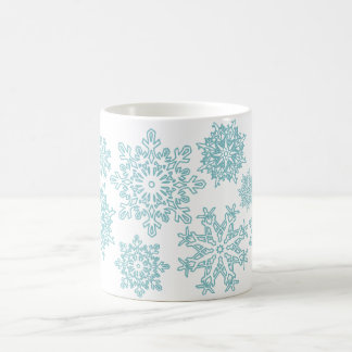 220 Blue Snowflake Mug