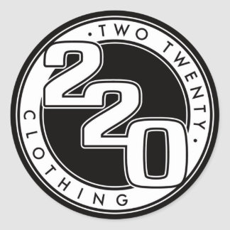 220 Clothing Logo Classic Round Sticker
