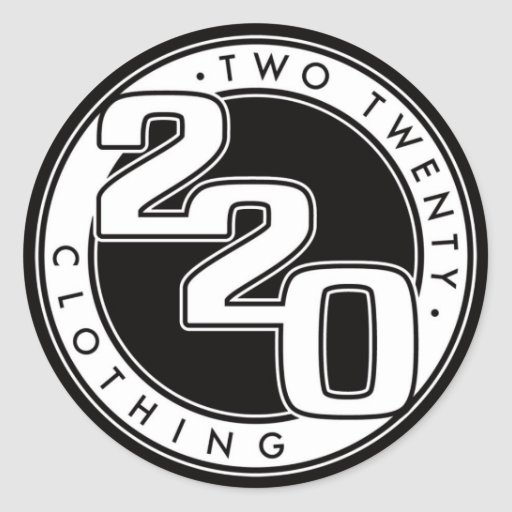 220 Case Decals : Clothing logo classic round sticker zazzle