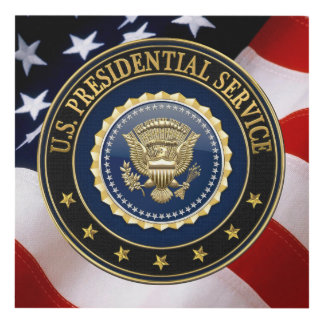 [220] Presidential Service Badge [PSB] Special Ed Panel Wall Art
