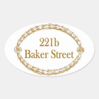 221b Baker Street Oval Sticker