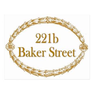221b Baker Street Postcard