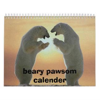 2222698950_1d6bcf2a4d, beary pawsom calender calendar