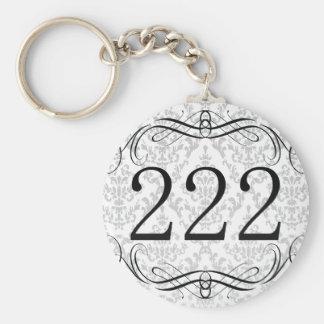 222 Area Code Basic Round Button Keychain