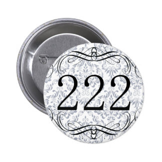 222 Area Code Pinback Button