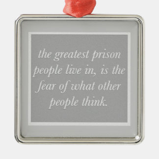 222 GREATEST PRISON FEAR OF WHAT OTHERS THINK WORD CHRISTMAS TREE ORNAMENTS