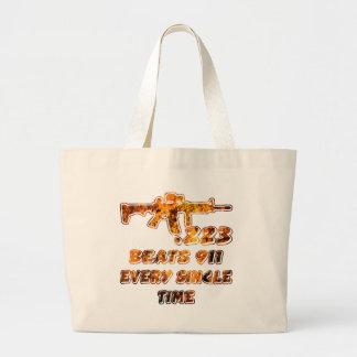 .223 Beats 911 Every Time (c)WhiteTigerLLC.com Large Tote Bag