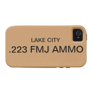 .223 Cubierta del iPhone de la MUNICIÓN de FMJ Case-Mate iPhone 4 Carcasas