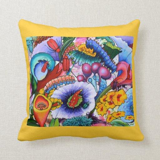 2240 Creatures In Our Garden Cushion - Crocus Pillow