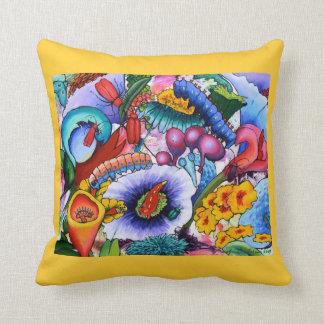 2240 Creatures In Our Garden Cushion - Crocus Throw Pillows