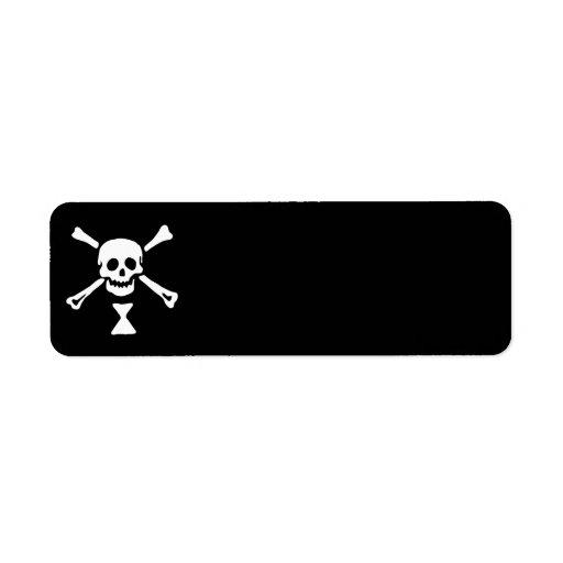 22427-pirate-flag-emanuel-wynne-vector PIRATE SKUL Custom Return Address Label