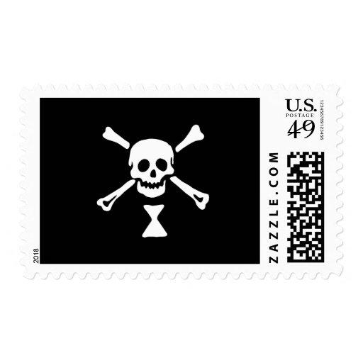 22427-pirate-flag-emanuel-wynne-vector PIRATE SKUL Postage
