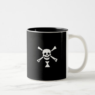 22427-pirate-flag-emanuel-wynne-vector PIRATE SKUL Two-Tone Coffee Mug