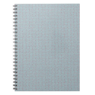 224 LIGHT BLUE BACKGROUND RED NUMBERS RANDOM NUMBE NOTEBOOKS