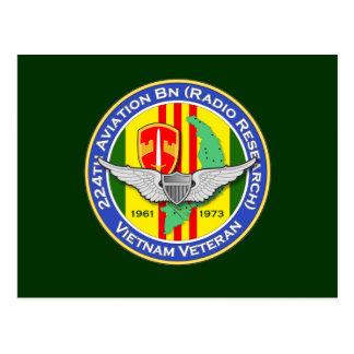 224o Bn RR 3b - ASA Vietnam de los Avn Tarjeta Postal