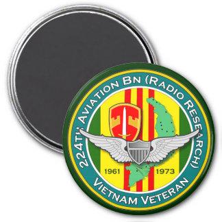 224th Avn Bn RR 3 - ASA Vietnam 3 Inch Round Magnet