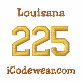 225 Baton Rouge Sudadera Bordada Con Capucha