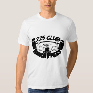 225 Club Bench Press Fitted T-Shirt