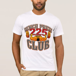 225 Club Bench Press Fitted T Shirt
