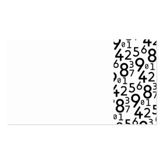 225 RANDOM NUMBERS FRACTIONS MATH ARITHMETIC LEARN BUSINESS CARD TEMPLATE