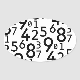 225 RANDOM NUMBERS FRACTIONS MATH ARITHMETIC LEARN OVAL STICKER