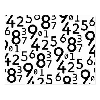 225 RANDOM NUMBERS FRACTIONS MATH ARITHMETIC LEARN POSTCARD