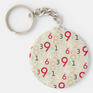 225colored 225 RANDOM NUMBERS FRACTIONS MATH ARITH Keychain