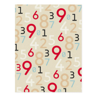 225colored 225 RANDOM NUMBERS FRACTIONS MATH ARITH Postcard