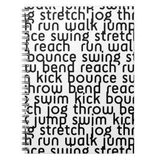 226 ATHLETIC ACTIVE FITNESS EXCERCISE MOVE BOUNCE NOTEBOOK
