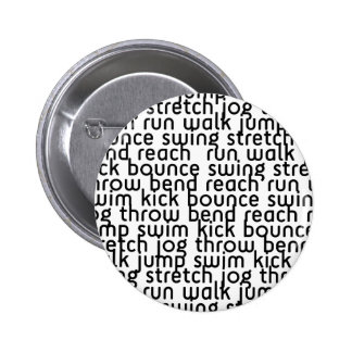 226 ATHLETIC ACTIVE FITNESS EXCERCISE MOVE BOUNCE PINBACK BUTTON