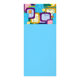 227 COLORFUL COLLAGE RECTANGLES SQUARE SHAPES SCRI RACK CARD