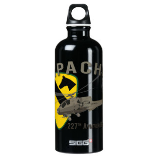 227th Aviation Apache Aluminum Water Bottle