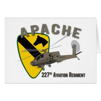 227th Aviation Apache Greeting Card