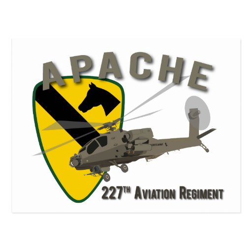 227th Aviation Apache Postcard