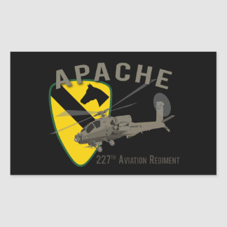 227th Aviation Apache Rectangular Sticker