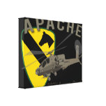 227th Aviation Apache Stretched Canvas Print