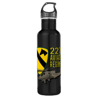 227th Aviation Regiment Apache Stainless Steel Water Bottle