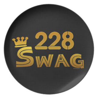 228 Area Code Swag Plate
