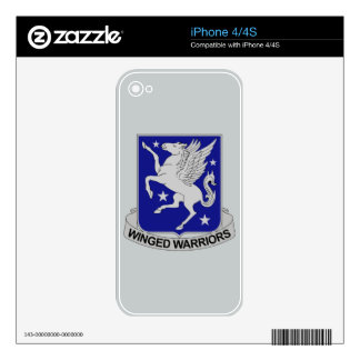 228th Aviation Regiment - Winged Warriors Decal For iPhone 4