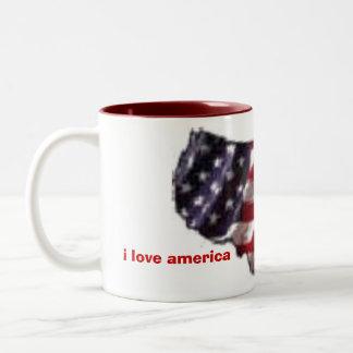 2296043074, i love america, i love america Two-Tone coffee mug