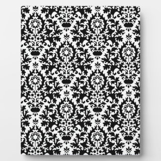 229 BLACK WHITE DECORATIVE PATTERN BACKGROUNDS WAL PLAQUE