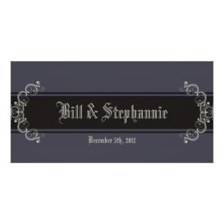 """22.5""""x7.5"""" Personalized Banner Black Tie Affair Poster"""