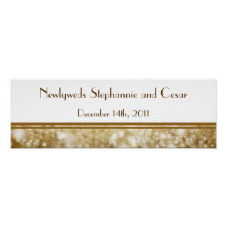 """22.5""""x7.5"""" Personalized Banner Christmas Copper Poster"""