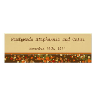 """22.5""""x7.5"""" Personalized Banner Foliage Branch Poster"""