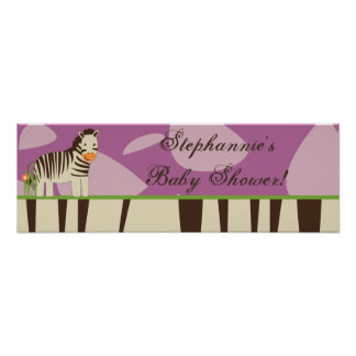"""22.5""""x7.5"""" Personalized Banner Jucana Purple Poster"""