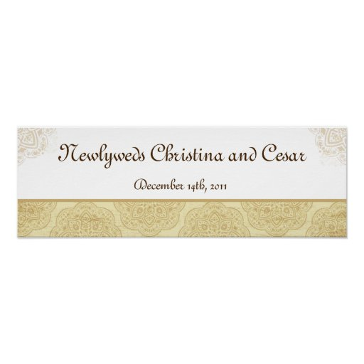 """22.5""""x7.5"""" Personalized Banner Moroccan Party Posters"""