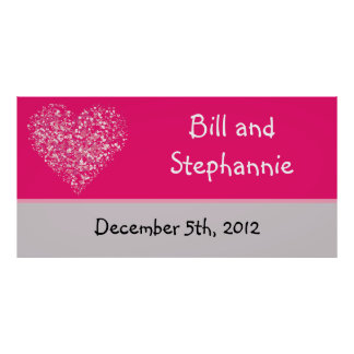 """22.5""""x7.5"""" Personalized Banner Pink Floral Petals Posters"""
