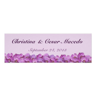"22.5""x7.5"" Personalized Banner Purple Orchids on S Poster"