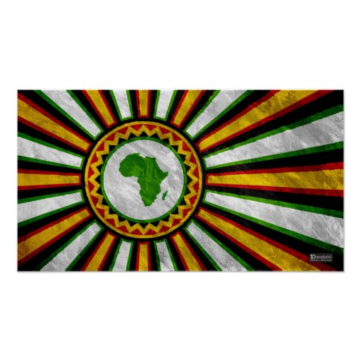 """22.5"""" x 12.5"""" Africa Rising Banner Painting Posters"""